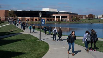 Cedar Lake and Stevens Student Center