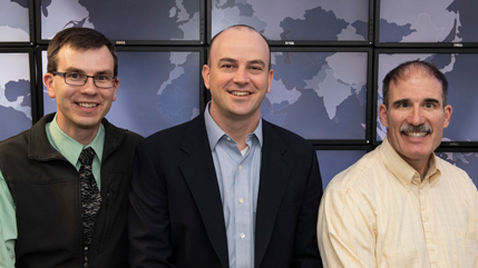 Patrick Dudenhofer , Dr. Seth Hamman, and Dr. Keith Shomper,.