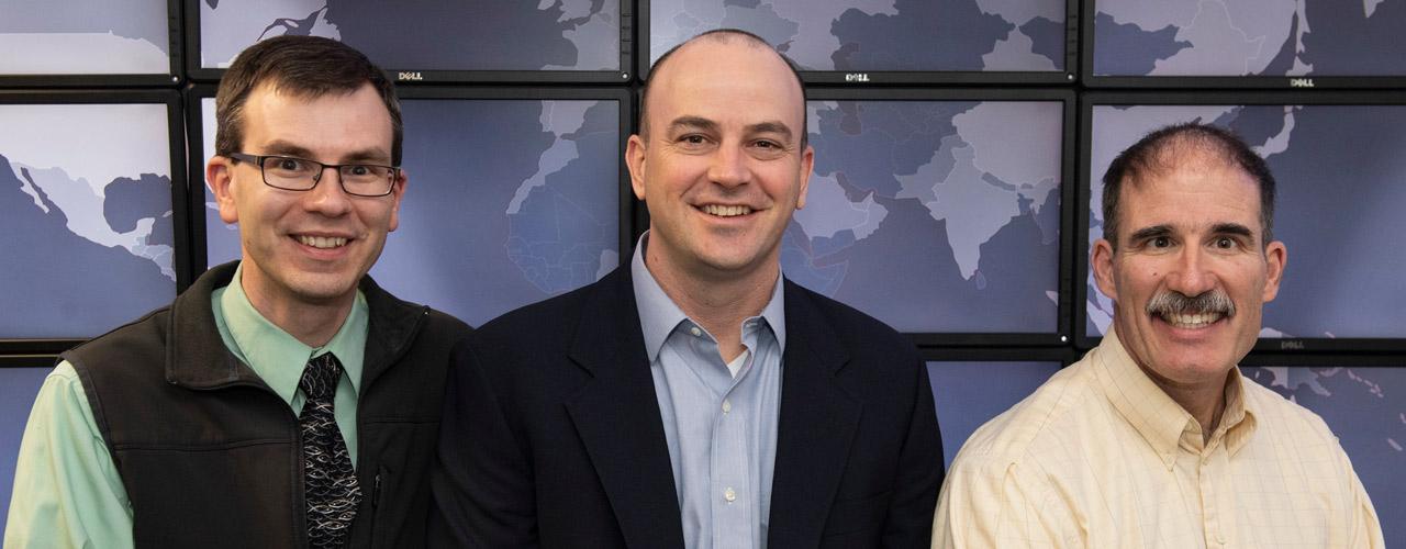 Patrick Dudenhofer , Dr. Seth Hamman, and Dr. Keith Shomper,.