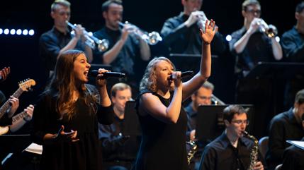 Cedarville University vocalists Kaitlin Kohler and Elizabeth McAlester
