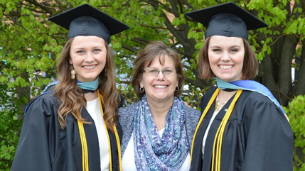 Rebecca, Janet, and Hannah Gendron