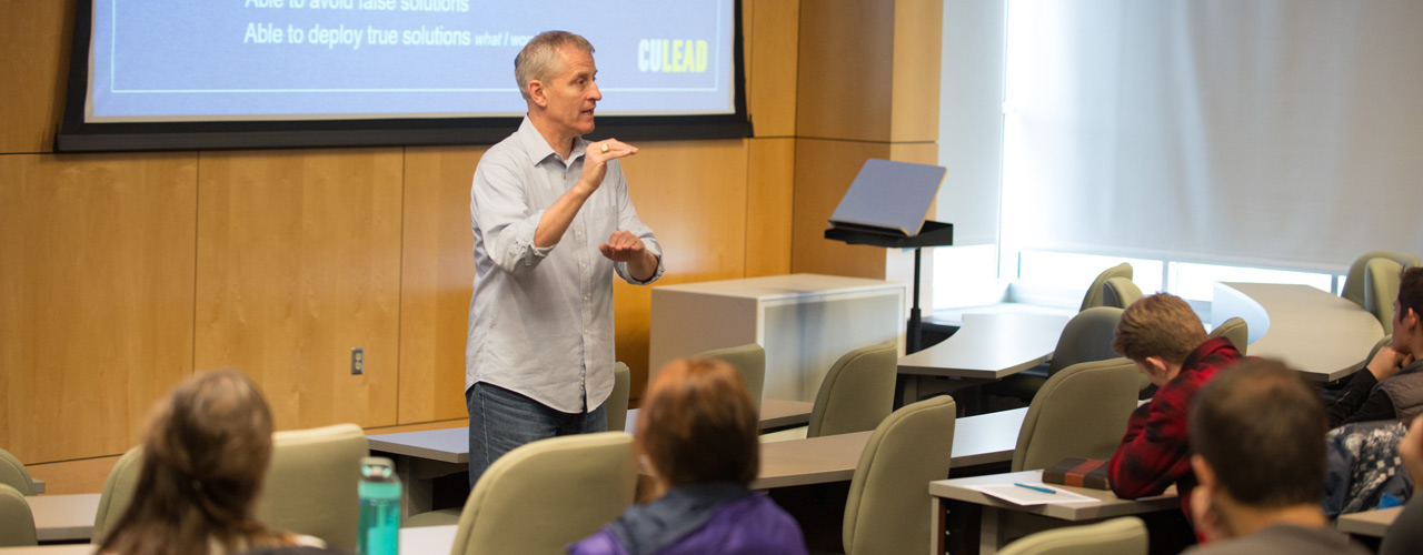 Jeff Reep, director of the career services office