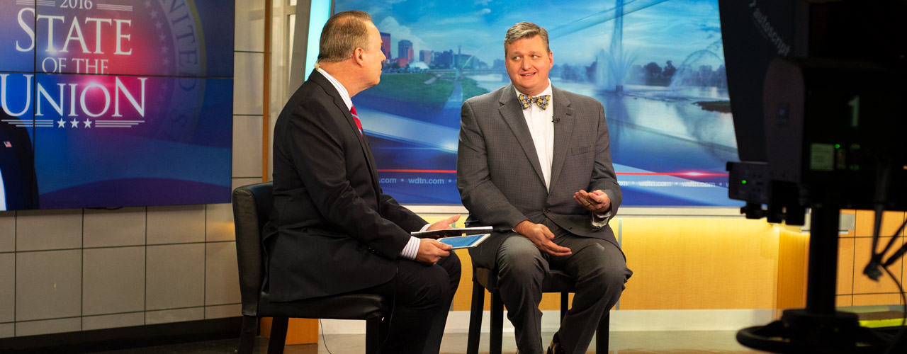 Mark Allan at WDTN and Dr. Mark Caleb Smith