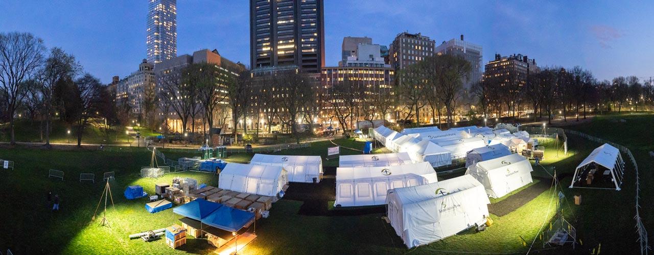 Samaritan's Purse field hospital in Central Park
