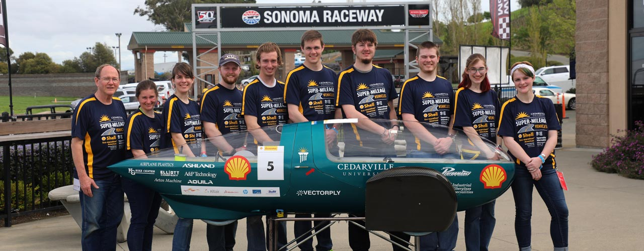 Supermileage team and Sting