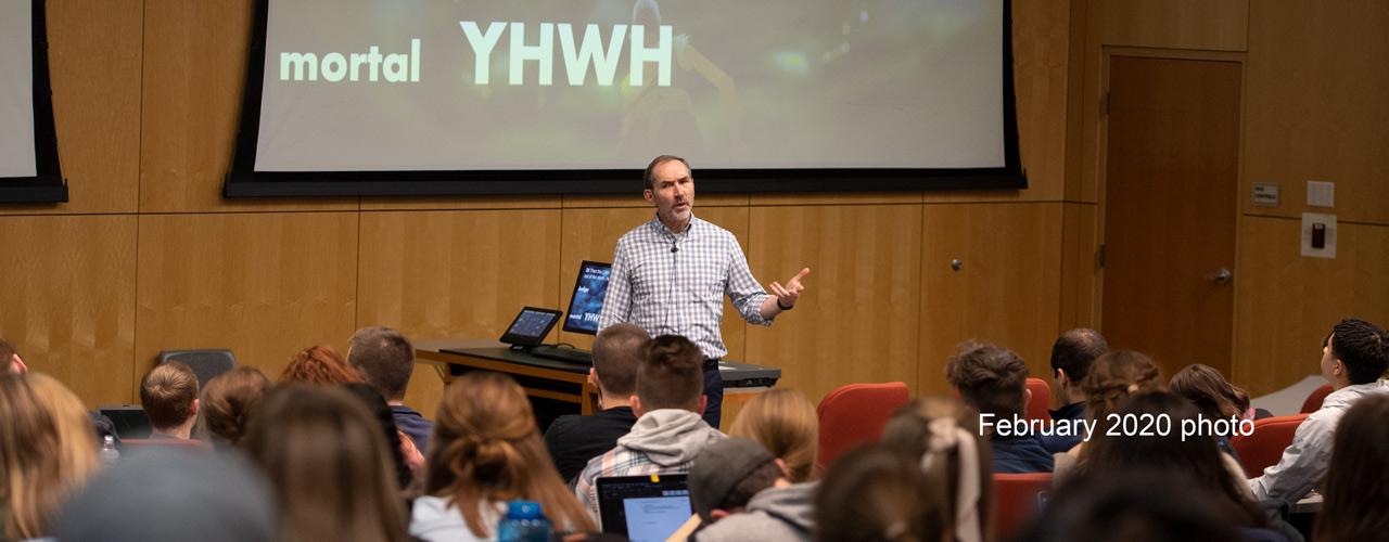 Dr. Chris Miller teaching OT Literature