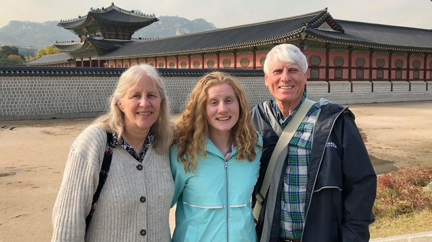 The Dickson family in South Korea