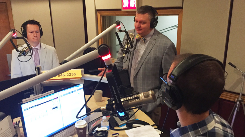 Dr. Glen Duerr and Dr. Mark Caleb Smith at Moody Radio Cleveland