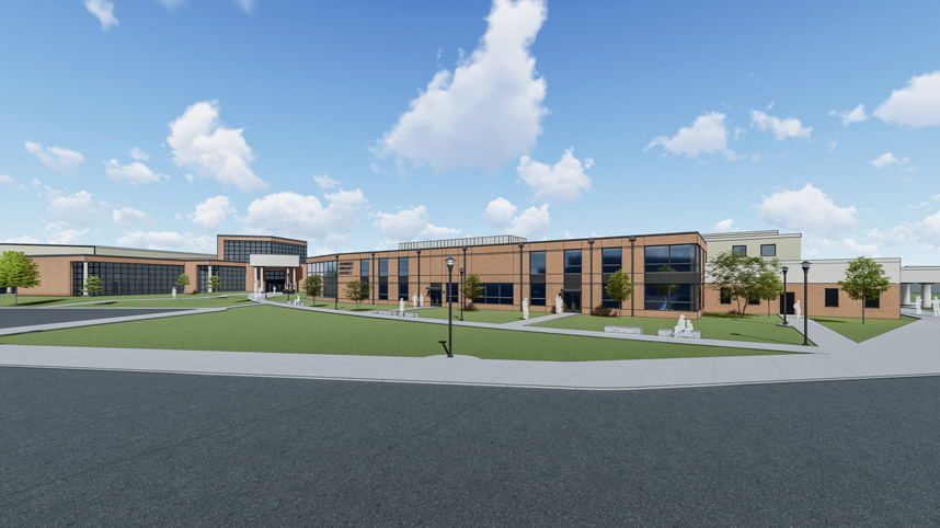 Academic and Athletic expansion latest rendering