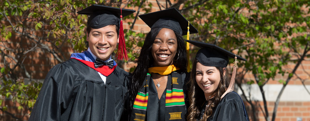 Three students ready for Commencement 2021