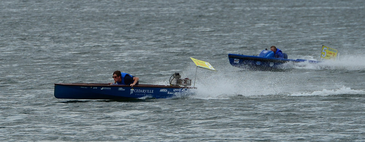 Engineering students pilot boats