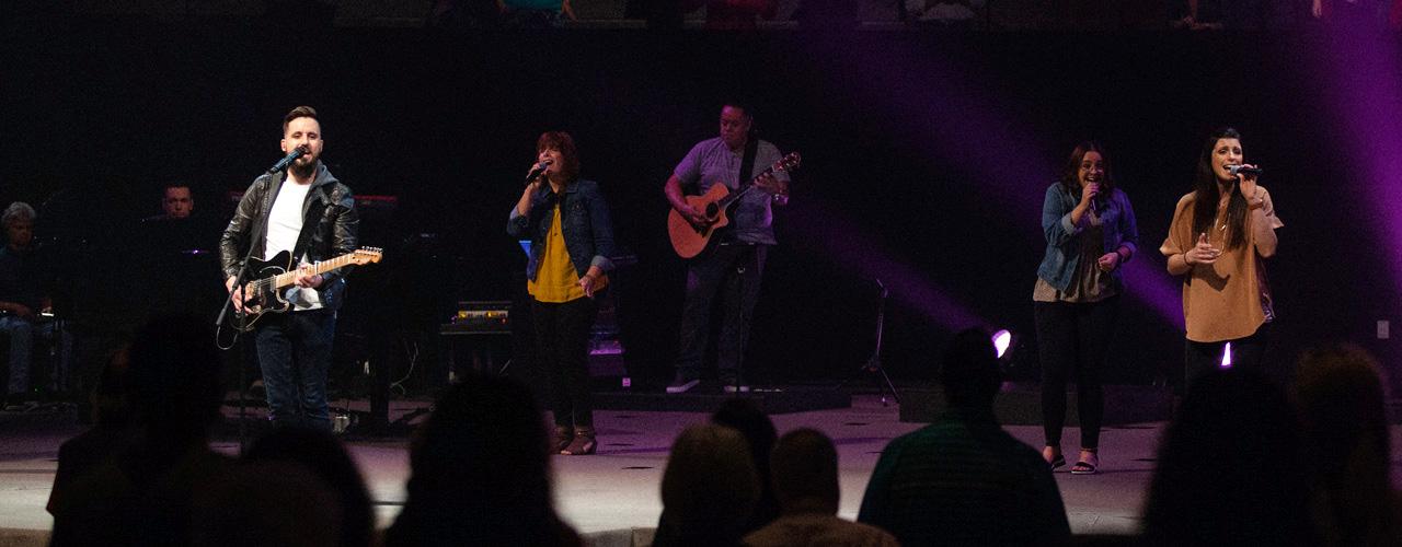 Worship band at Bell Shoals Church in Tampa, Florida