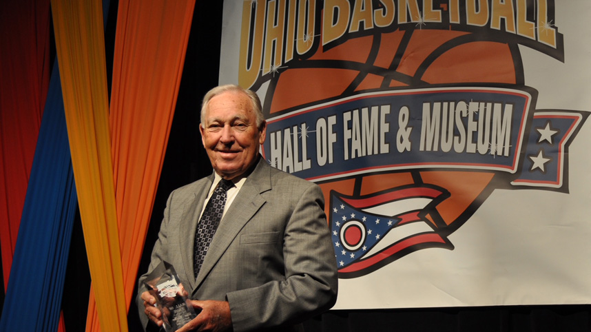 Coach Don Callan at his Ohio Basketball Hall of Fame induction in 2012