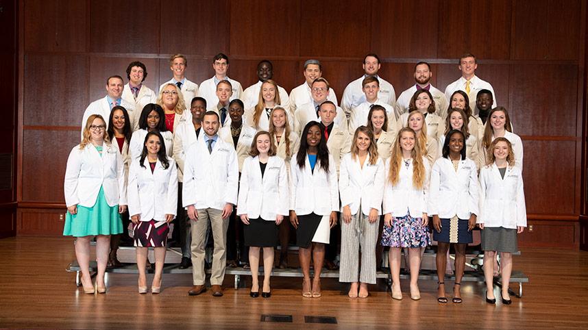 white coat ceremony students 2019