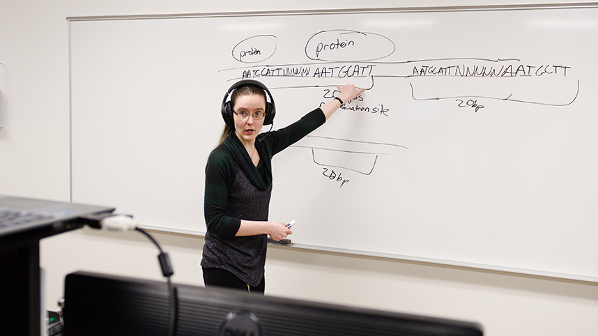 Dr. Sharon Cooper teaching virtually