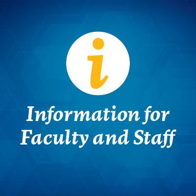 Icon - Information for Faculty and Staff.