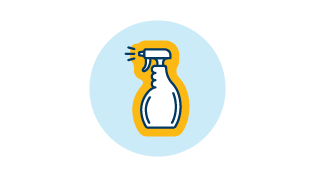 Icon of a spray bottle.