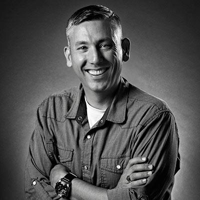 Black and white photo of Dan DeWitt