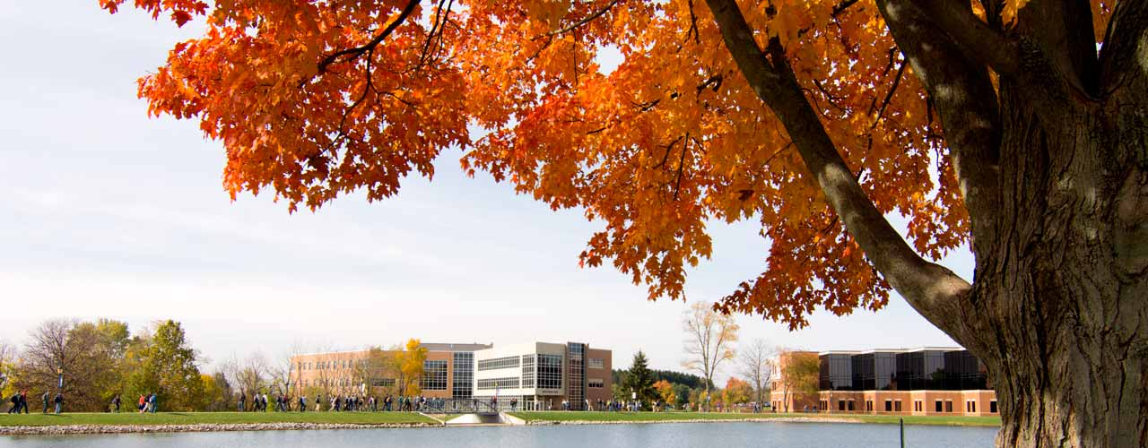 Cedarville's campus looks beautiful in the fall