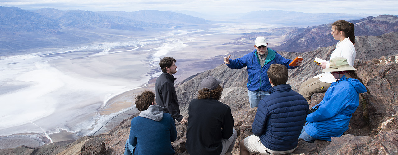 Geology students in Death Valley National Park
