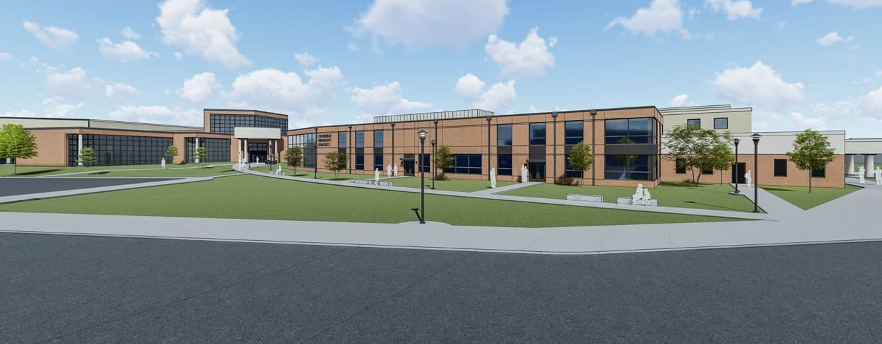 Rendering of the new Athletic and Academic Expansion to be built adjacent to the Callan Athletic Center