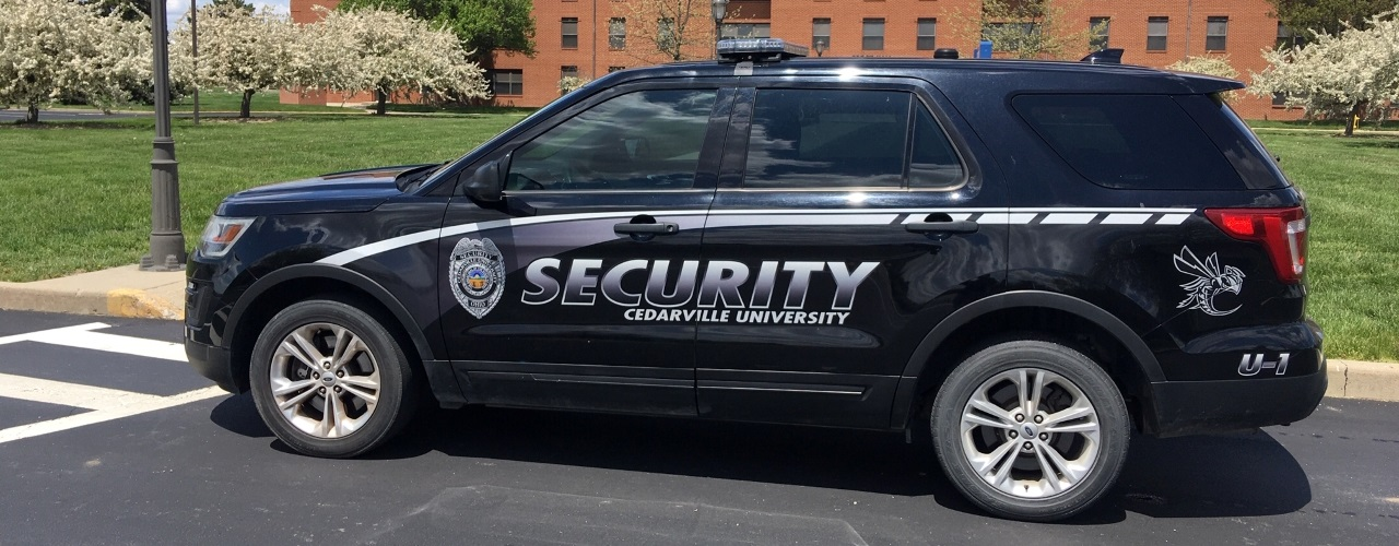 Cedarville's campus safety vehicle