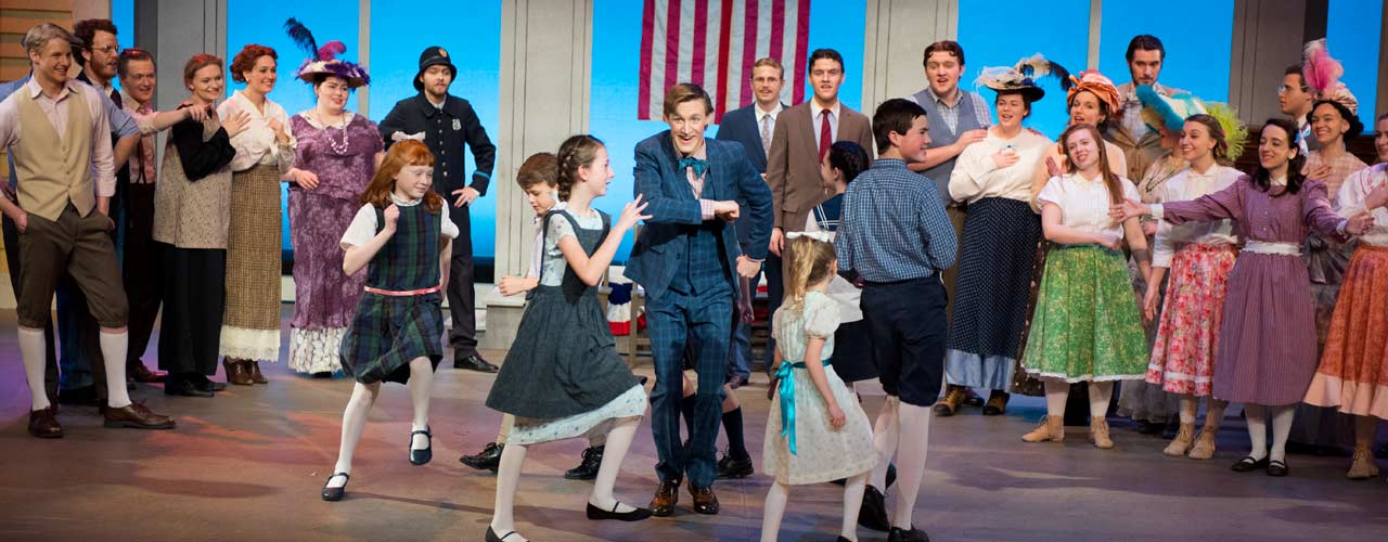Cedarville students act out the Music Man