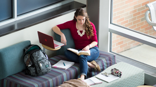 A female student studying in the BTS