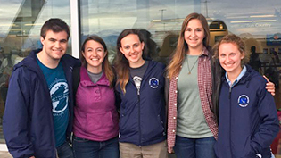 A group of students on a Global Outreach trip