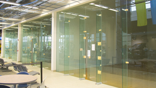 Cedarville's three racquetball courts