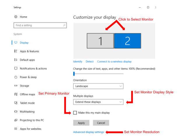 Cách Đặt Độ Phân Giải Cho Nhiều Màn Hình Windows 10 - HUY AN PHÁT