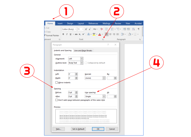 Word How To Change Default Line Spacing Cedarville University - How To Set Paragraph Spacing In Word Table