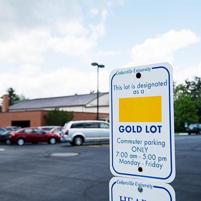 Designated commuter parking lot