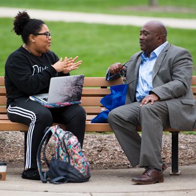 Alumnus mentors a student