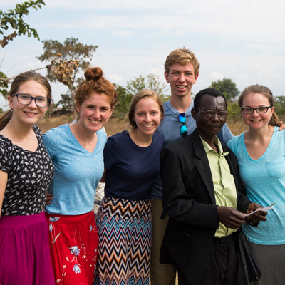 Group of students on a mission trip