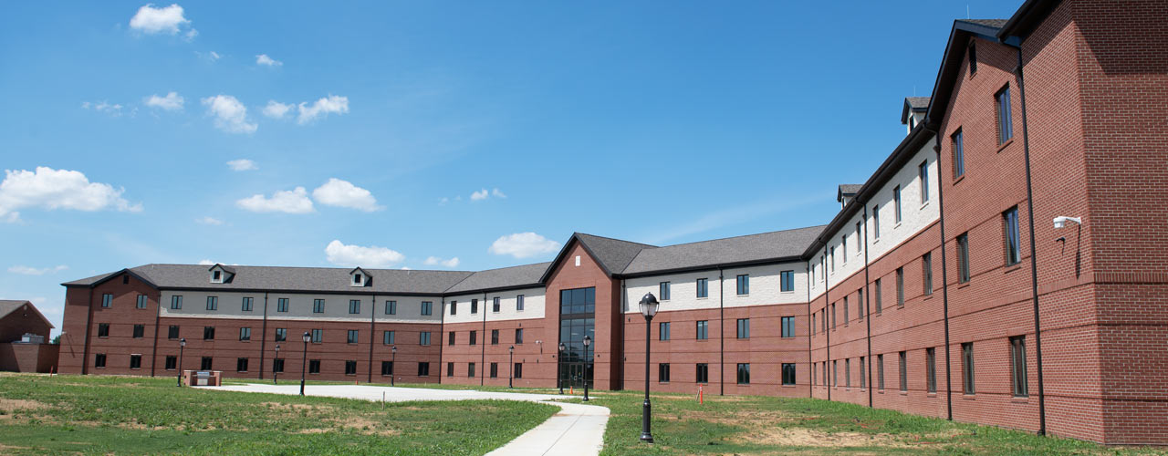 Arial view of the new residence hall