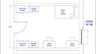 St. Clair Room Layout