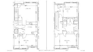 Townhouse room layout