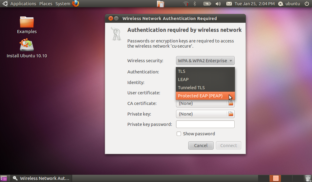 CU: Connect to Wireless in Ubuntu - Help Pages - Information