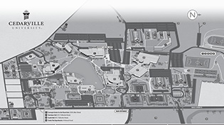 Campus Map - Grayscale