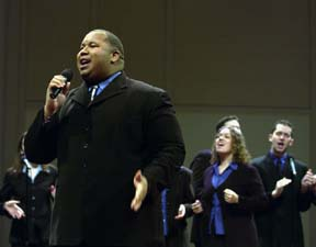 Gospel Choir Performs for Martin Luther King Day