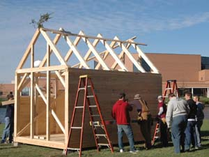 "Composition Class Constructs ""Walden"" Cabin for Contemplation"