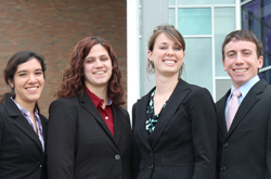 Business students at Cedarville University - a christian college