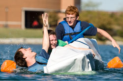 Cedarville Carboard Canoe Race - Engineering Major