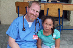 Jeff Subra '83 served on a medical missions trip to Honduras