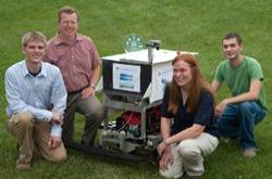 Cedarville University Engineering, robot lawn mower