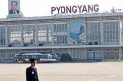 The Pyongyang Sunan International Airport in North Korea