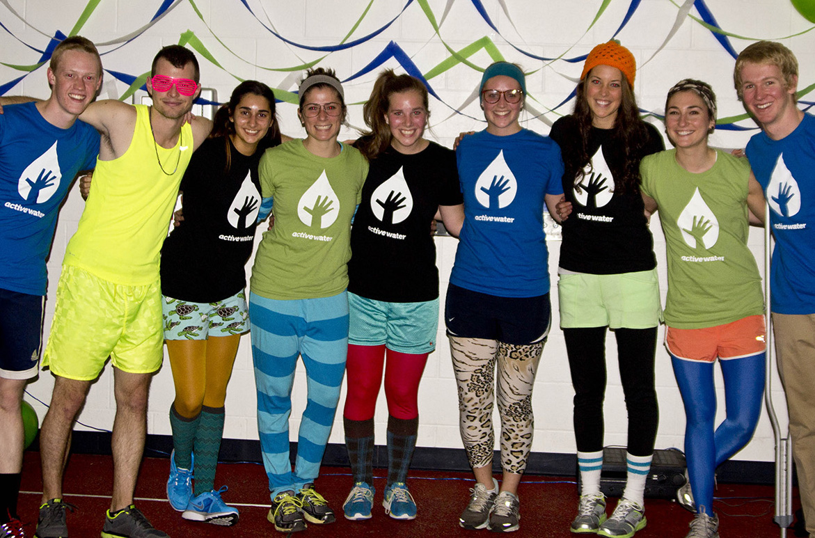 Cedarville University students $3,900 with an ActiveWater relay event held Oct. 31, 2012.