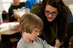 Cedarville University education majors participate in student teaching, interacting with students and learning skills for their future careers.