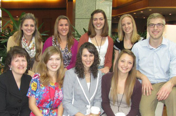 Eight writing center tutors and director Julie Moore presented papers at the International Writing Centers Association Conference in San Diego in October.